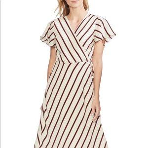 EUC Vince Camuto Caravan Stripe Wrap Dress Sz. L